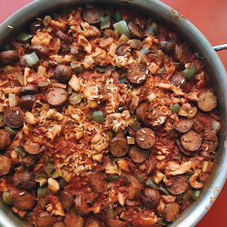Shortcut Chicken and Andouille Jambalaya Recipe