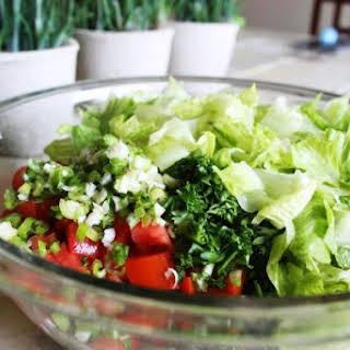 Simple Mediterrnean Salad.