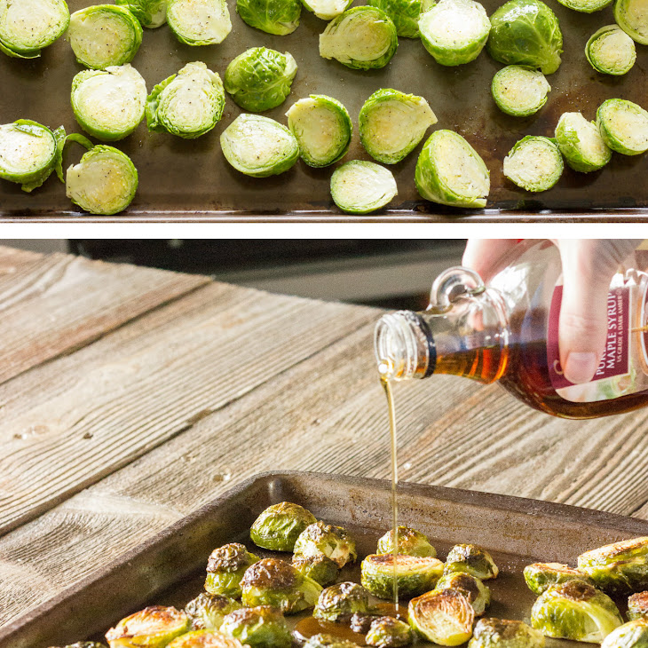 Maple Syrup Roasted Brussels Sprouts Recipe | Yummly