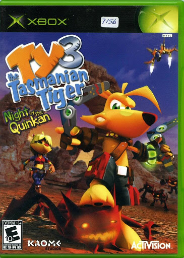 Video game:Microsoft Xbox Ty the Tasmanian Tiger: Night of the Quinkan