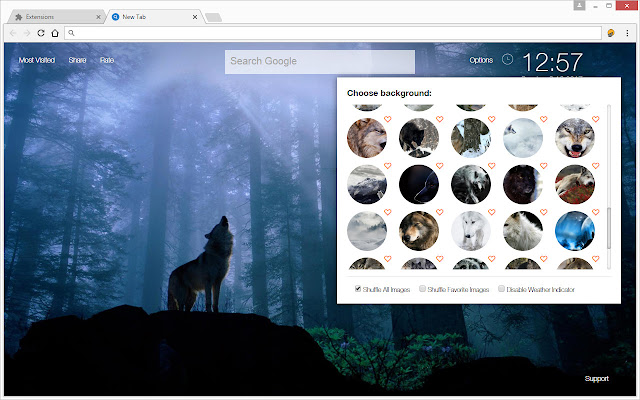 Wolf Wallpaper HD New Tab - Wolves Themes - Chrome Web Store