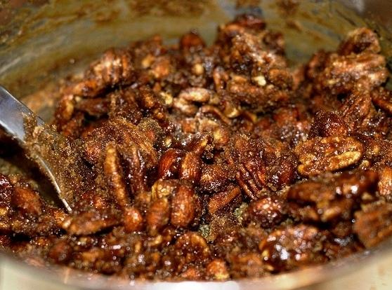 Remove from heat and add the remaining cup of brown sugar to the pan,...