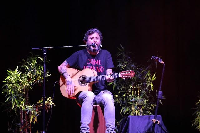 Juanito Macandé durante su gran actuación.