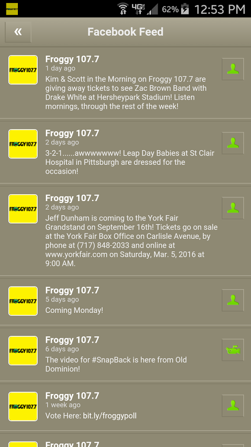Froggy 107.7- screenshot