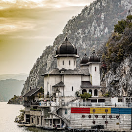 Monastery by Richard Michael Lingo - Buildings & Architecture Places of Worship ( monastery, hillside, buildings, danube river, architecture )