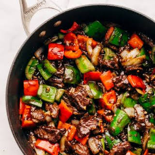 Garlic Lovers Pepper Steak Stir Fry (and meal prep!).