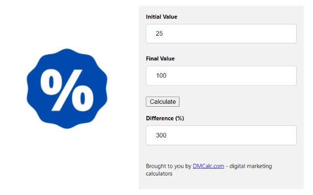 Percentage Change Calculator