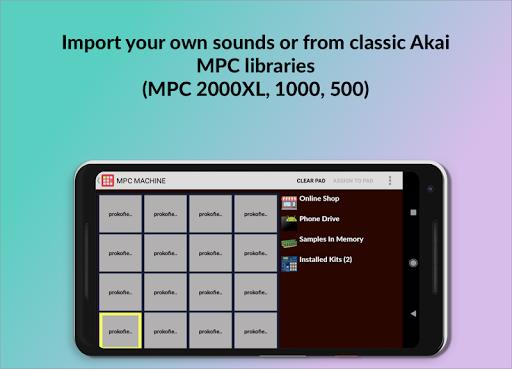 MPC MACHINE DEMO -Sampling Drum Machine Beat Maker 1.35 screenshots 2