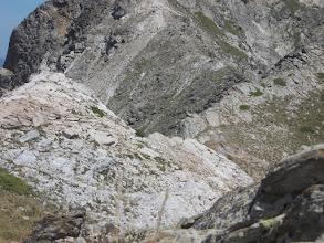 Photo: cheminement de crête vers le Roc del Boc