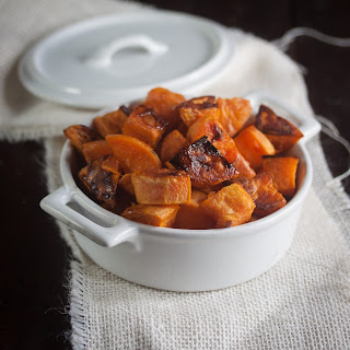 Roasted Maple Glazed Sweet Potatoes Recipe
