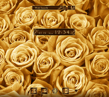 Luxury Wallpaper Gold Rose Theme Apps On Google Play