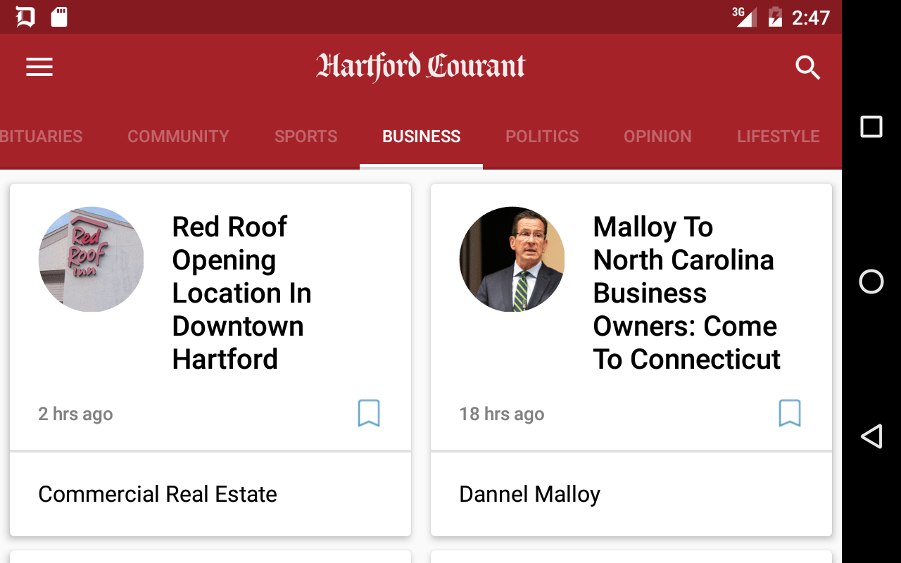 Hartford Courant- screenshot