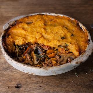 Shepherd's Pie With Sweet Potato Mash & Chestnut Mushrooms