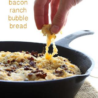 Cheesy Bacon Ranch Bubble Bread.
