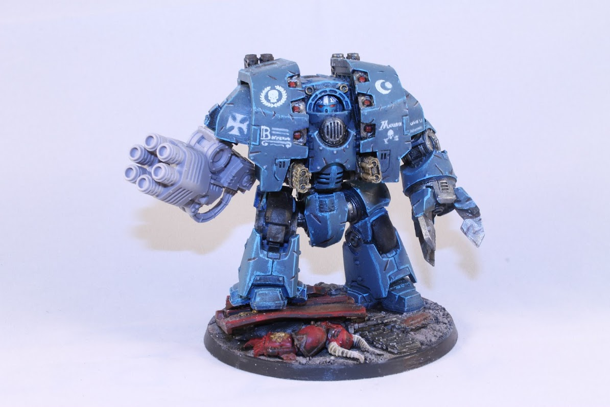 Maximir, Leviathan Dreadnought, with melta lance