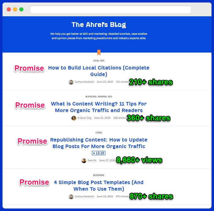 ahrefs product-led storytelling