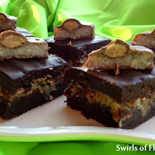 Chewy Candy Bar Brownies