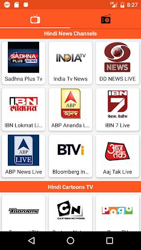 Hindi Tv and Hindi Fm Radio app (apk) free download for