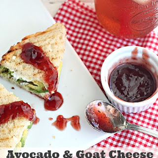 Avocado Goat Cheese Grilled Cheese.