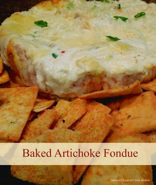 """Baked Artichoke Fondue""""Usually artichokes are paired with spinach in dips, but, this..."""