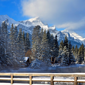 Policemen Creek by  J B  - Landscapes Mountains & Hills ( winter, policemens creek, canadian rockies, canmore, rocky mountains )