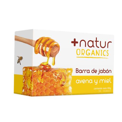 jabon en barra natur ams avena miel 100gr
