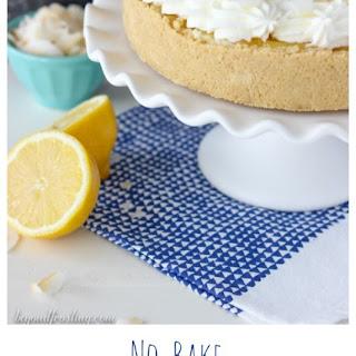 No-Bake Lemon (Coconut) Macaroon Cheesecake