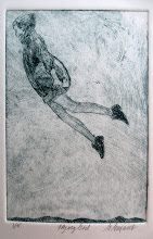 Photo: Flying Girl Dry-point etching