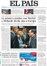Photo: La primera cumbre con Merkel y Holande divide más a Europa; El FMI y otros órganos vigilarán la auditoría a la banca española y las grandes empresas defienden la fortaleza de España, en nuestra portada de este juves 24 de mayo de 2012. http://srv00.epimg.net/pdf/elpais/1aPagina/2012/05/ep-20120524.pdf