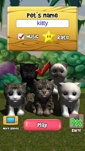 Talking Kittens virtual cat that speaks, take care apklade screenshots 2
