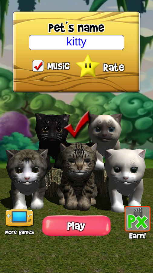 Talking Kittens virtual cat that speaks, take care- screenshot