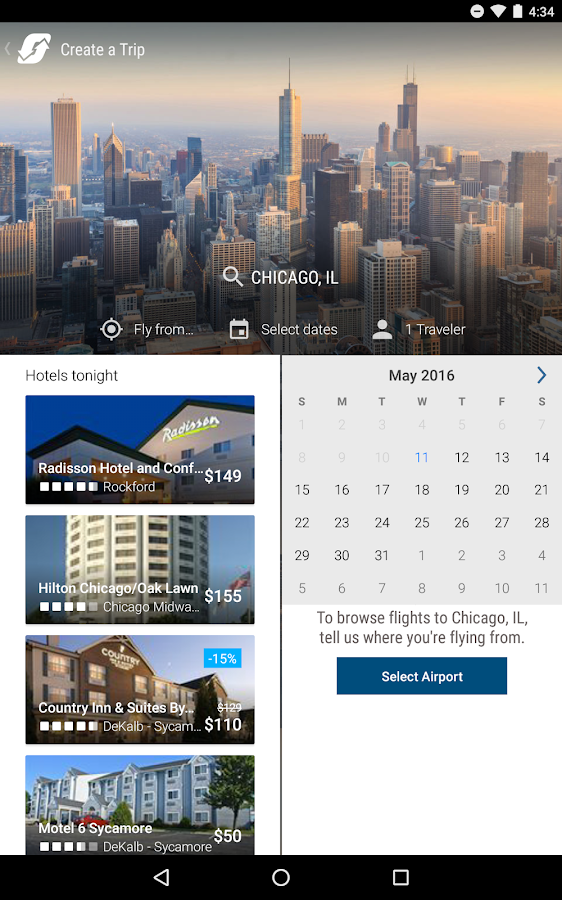 Orbitz - Flights, Hotels, Cars- screenshot