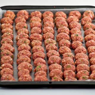 Easy Meatballs Ingredients.