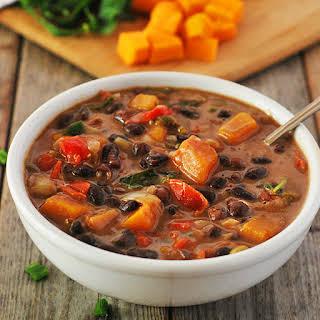 Black Bean And Butternut Squash Stew.