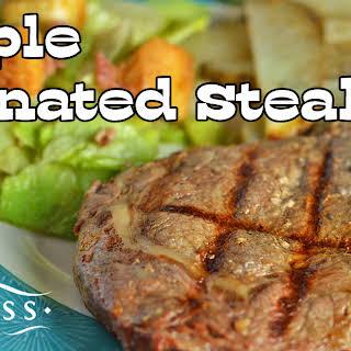 Simple Marinated Steak.