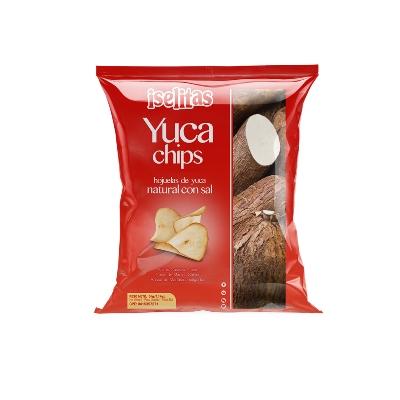 snack iselistas yuca chips con sal 28gr