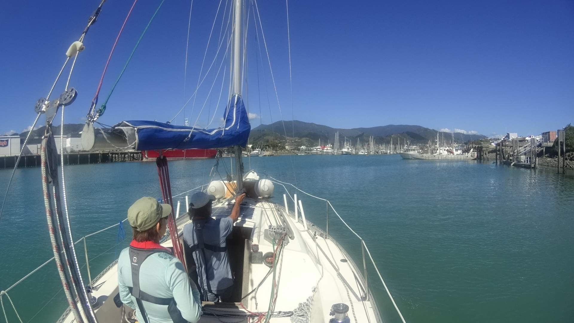 Arriving in Nelson Marina