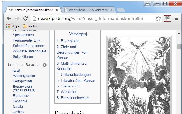 Web20Zensur
