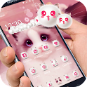 Cartoon pink cute Kitty theme icon