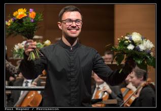 Photo: Paul Wagner: Percussion Bachelor-Prüfung an der Hochschule für Musik und Theater Rostock mit dem Schlagzeugkonzert von Joseph Schwantner und der Norddeutschen Philharmonie Rostock