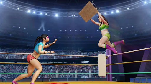 Women Wrestling Rumble: Backyard Fighting apkpoly screenshots 6