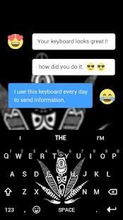 3D Black White Keyboard Theme - náhled