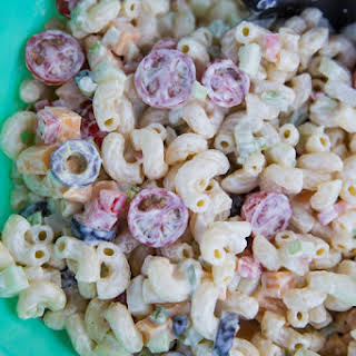 Macaroni Salad With Cheese Cubes Recipes.