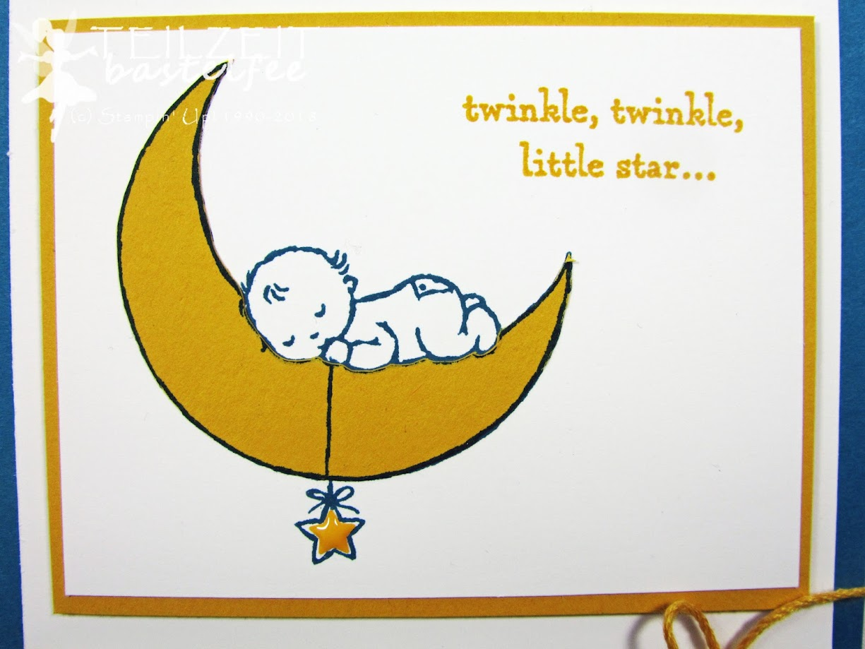 Stampin' Up! - Sketch Challenge, Moon Baby, Baby Boy, Geburt Junge