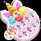 Flower Sweetie Unicorn Keyboard Theme Android apk