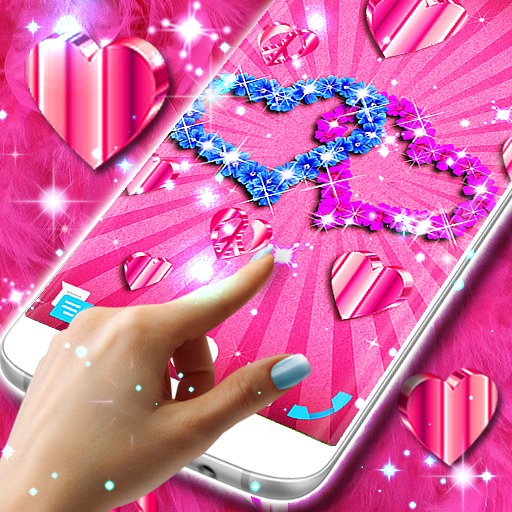 Live wallpapers 💕 Hearts for pink girls