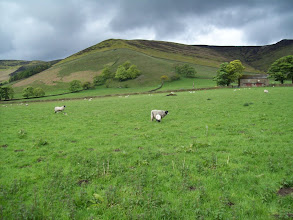 Photo: The Nab hill spur and Oller Brook re-entrant near Edale
