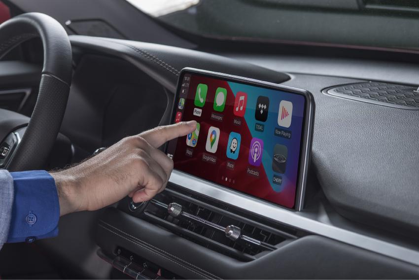 interior auto celular touchscreen