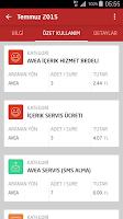 Screenshot of Avea Online İşlemler
