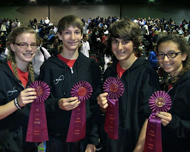 Photo: Nationals 2012 Day 3 Double Dutch Pairs Freestyle:  Charlotte, Ethan, Dane, Maya 6th place
